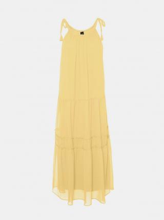 Vero Moda žluté maxi šaty Penelope - XS dámské žlutá XS