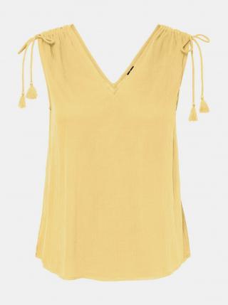 Vero Moda žlutý top Penelope - XS dámské žlutá XS