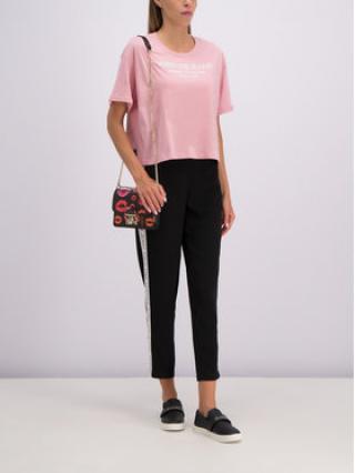 Versace Jeans T-Shirt B2HTB7T6 Růžová Regular Fit dámské L