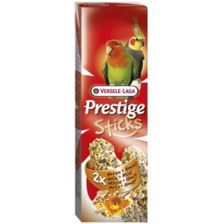 Versele-Laga Prestige Sticks tyčinky pro velké papoušky med ořech 2x70 g