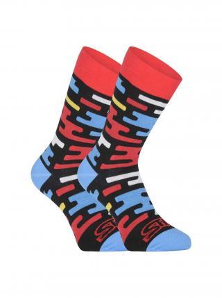 Veselé ponožky Styx vysoké Flat pánské fialová 35-38