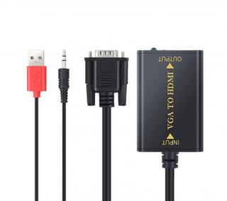 VGA na HDMI propojovací kabel s audio konektorem