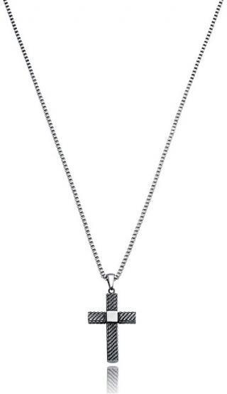 Viceroy Módní ocelový náhrdelník s křížkem Beat 75021C01000