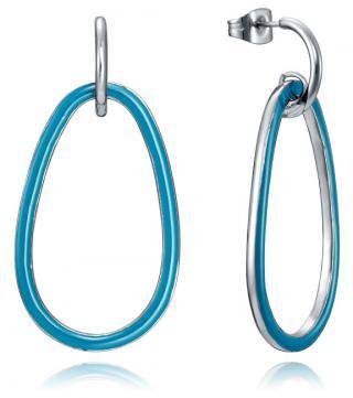 Viceroy Ocelové náušnice s modrými kroužky 15043E01000 dámské