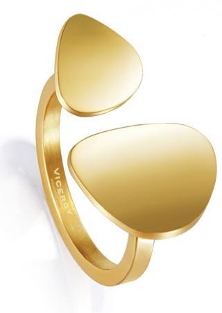 Viceroy Stylový pozlacený prsten Air 15008A01212 55 - 56 mm dámské