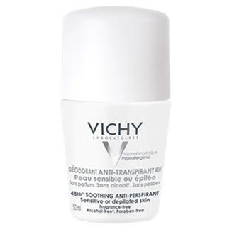 Vichy Deodorant-Antiperspirant 48h roll-on pro citlivou nebo depilovanou pokožku  50 ml
