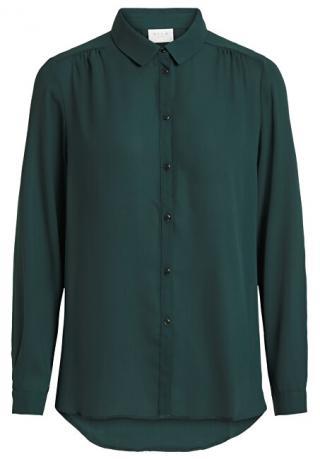 Vila Dámská košile VILUCY L/S BUTTON SHIRT - NOOS Pine Grove M