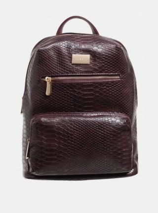 Vínový batoh s krokodýlím vzorem Bessie London dámské vínové