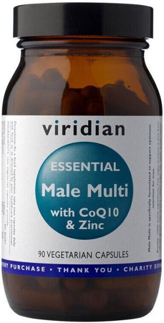 Viridian Essential Male Multi with CoQ10 a Zinc 90 kapslí