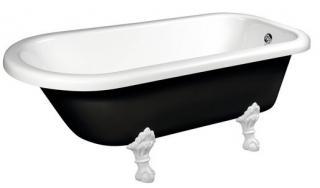 Volně stojící vana Polysan FOXTROT 170x75 cm akrylát levá i pravá černá/nohy bílé 72962 černá černá