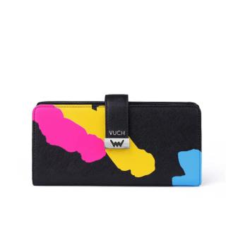 Vuch černá peněženka Aureli s barevnými motivy dámské