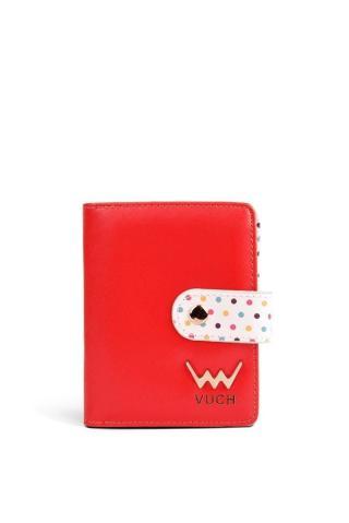 Vuch červená malá peněženka Poppyna dámské