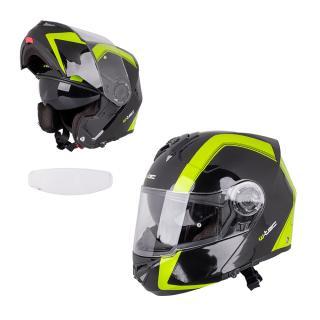 Výklopná Moto Helma W-Tec Vexamo Pp S Pinlockem  Černo-Zelená XS