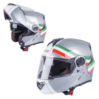 Výklopná Moto Helma W-Tec Vexamo  Šedá-Trikolor  Xs