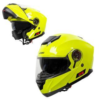 Výklopná Moto Přilba W-Tec Lanxamo  Fluo Yellow  Xs
