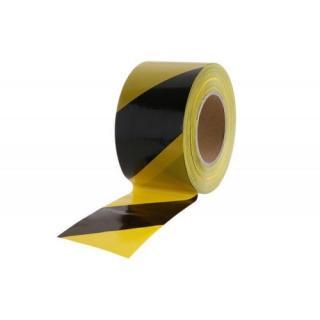Výstražná ohraničovací páska 80mmx250m černožlutá FESTA 38946
