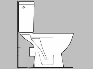 Wc kombi, pouze mísa Jika Lyra plus spodní odpad H8243870000001 bílá bílá