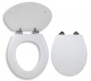 Wc prkénko Novaservis dřevo bílá WC/SOFTLYRA bílá bílá