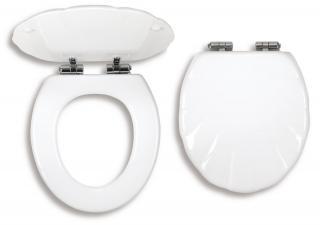 Wc prkénko Novaservis dřevo bílá WC/SOFTMUSLELY bílá bílá