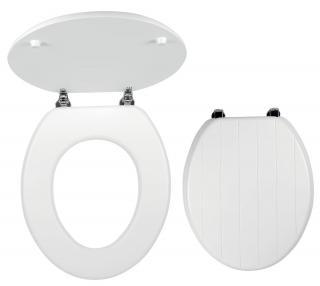 Wc prkénko Novaservis MDF bílá WC/PROVENCE bílá bílá