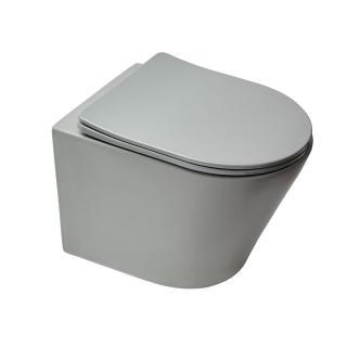 Wc s prkénkem softclose závěsné Swiss Aqua Technologies Infinitio šedá mat zadní odpad SATINF010RREXPLGRM šedá šedá