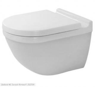 Wc závěsné Duravit Starck 3 zadní odpad 2527092000 bílá bílá