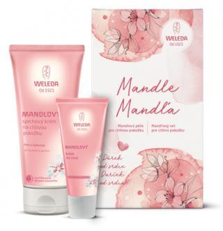 WELEDA Mandlová péče pro citlivou pokožku – dárkový balíček růžová