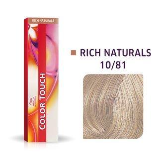 Wella Professionals Color Touch Rich Naturals profesionální demi-permanentní barva na vlasy s multi-dimenzionálním efektem 10/81 60 ml