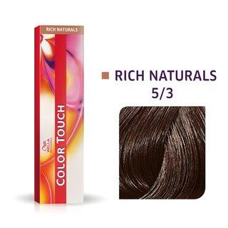 Wella Professionals Color Touch Rich Naturals profesionální demi-permanentní barva na vlasy s multi-dimenzionálním efektem 5/3 60 ml