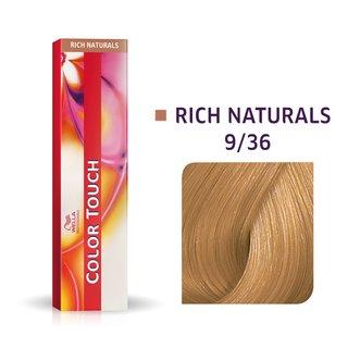 Wella Professionals Color Touch Rich Naturals profesionální demi-permanentní barva na vlasy s multi-dimenzionálním efektem 9/36 60 ml