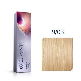 Wella Professionals Illumina Color profesionální permanentní barva na vlasy 9/03 60 ml