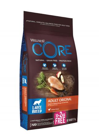 Wellness Core Wellness Dog LB Adult Original kuře 10 2kg