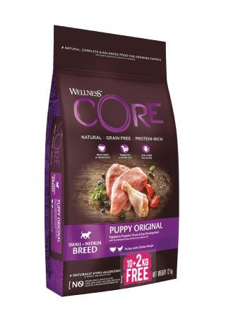 Wellness Core Wellness Dog Puppy kruta a kuře 10 2kg