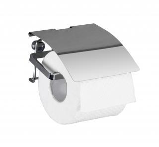 WENKO Držák WC papíru BEZ VRTÁNÍ Premium kovově lesklý