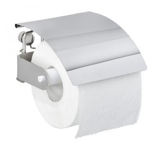 WENKO Držák WC papíru BEZ VRTÁNÍ Premium Plus kovově lesklý
