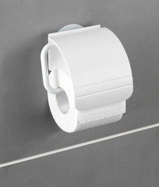 WENKO Držák WC papíru BEZ VRTÁNÍ StaticLoc OSIMO bílý 12x8x12 cm