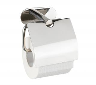 WENKO Držák WC papíru BEZ VRTÁNÍ TurboLoc OREA SHINE kovově lesklý 8x21x18 cm