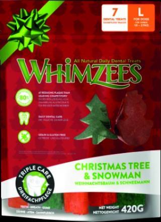 WHIMZEES Dental stix L vánoční edice 6ks