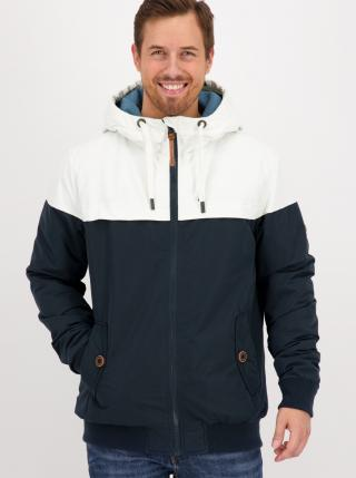 White-blue mens winter jacket Alife and Kickin pánské Tmavě modrá M