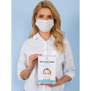 White face mask 1 piece Neurčeno One size