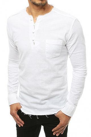 White mens shirt DX1902 pánské Neurčeno S