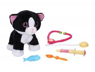WIKY Kočka veterinář se zvukovými efekty 30 cm