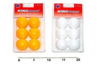WIKY Míčky na stolní tenis 6 ks - bílé