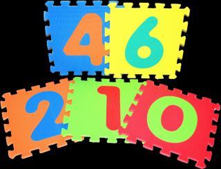 WIKY Pěnové puzzle  - číslice mix barev