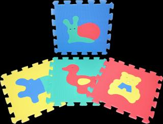 WIKY Pěnové puzzle Zvířata 10 ks mix barev