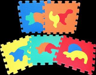 WIKY TEDDIES Pěnové puzzle Dinosauři 10 ks mix barev