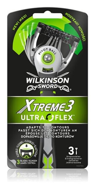 Wilkinson Sword Jednorázový holicí strojek pro muže Wilkinson Xtreme 3 UltraFlex 3 ks pánské