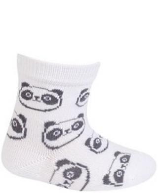 WOLA Ponožky kojenecké bavlněné neutral Panda White 12-14 bílá