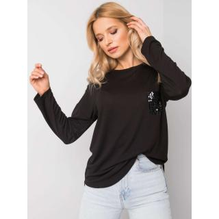 Women´s black blouse with applications dámské Neurčeno M