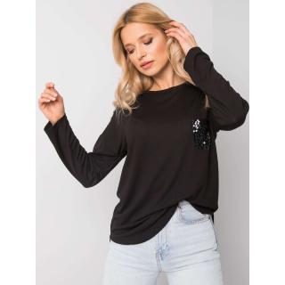 Women´s black blouse with applications dámské Neurčeno XXL